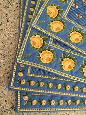 Vera Bradley Retired Rare Bees Blue Placemats Excellent