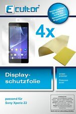 4x Sony Xperia Z2 (2 VS + 2 RS) klare Displayschutzfolie Ecultor Crystalclear