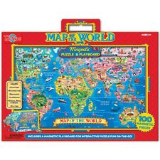 Map of the World Magnetic Puzzle & Playboard
