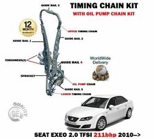 Pour seat exeo + st 2.0 tfsi 211bhp 2010 - > new timing chain kit + pompe à huile set