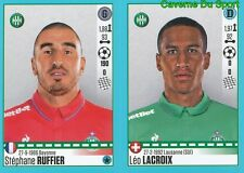 778-779 S. RUFFIER LEO LACROIX SUISSE AS.SAINT-ETIENNE STICKER FOOT 2017 PANINI