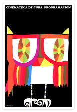 "Cuban movie Poster""LECHUZA.Owl.Buho""Rainbow colors.Colorful Art.Home Decor"