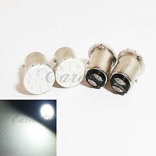 1157 4x BAY15d White COB 12 Chip LED Bulb #F8 Parking Tail License Plate Lamp