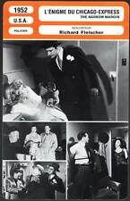 L'ENIGME DU CHICAGO EXPRESS  McGraw,Fleisher(Fiche Cinéma)1952 The Narrow Margin
