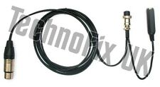 Cable for Heil microphones 4 pin XLR to 8 pin round for Kenwood, CC-1-K8 equiv.