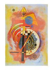 Kandinsky Homage a Grohmann Poster Kunstdruck Bild 80x60cm