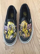 Iron Maiden Killers VANs Slip Ons. Limited Edition Used Men's  8