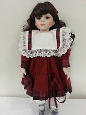 """Hello Dolly, Porcelain 16"""" inches tall doll"""