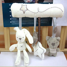 Kid Baby's Crib Cot Pram Hanging Plush Soft Bell Musical Toy Rabbit Bear Star UK