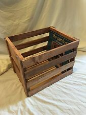Vinyl Record Storage Wood Crate