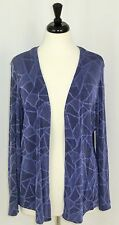 Citiknits Travel Jacket Purple Stained Glass Design Open Front Petite Large PL