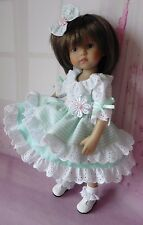 PIXIES HAND MADE: DRESS AND HAIR BOW fits 10 INCH DOLLS like BONEKA