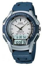 Casio WS300-2E Mens 100M Digital Analog Runners Sports Watch Daily Alarm BLUE