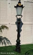 SUPERBE LAMPADAIRE/ REVERBERE POUR EXTERIEUR EN FONTE ET CUIVRE  DE 196 CM DE H