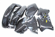 New Black Plastic Body Kit DRZ400 KLX400 Front Rear Fenders Side Panels  #V57