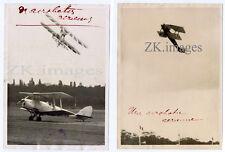 VOLTIGE AERIENNE 2 Photos Biplan Meeting Vincennes 1934