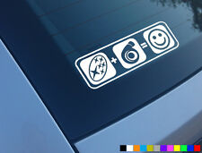 SUBARU PLUS BOOST EQUALS SMILES CAR STICKER FUNNY TURBO JDM IMPREZA STI WRX P1
