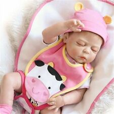 "23""Handmade Full Body Silicone Reborn Baby Doll Baby Vinyl Sleeping Girl Dolls"