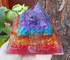Top Quality - ORGONE PYRAMID with 7 CHAKRA STONE / 7 CHAKRA ORGONE PYRAMID