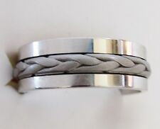 Men's Braided Band Ring, 925 Sterling Silver, size 11.5 --  7.5 grams