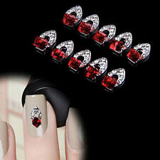 10Pcs 3D faux diamant Cristal Alloy Charme DIY Ongle Art Tips Décoration Bijoux
