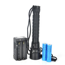 9000LM 3X XM-L L2 LED Scuba Diving Flashlight Waterproof 100M Lamp Torch+2x18650