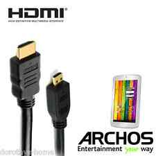 Archos 70b Titanium, 101 Xenon Tablet Micro HDMI to HDMI TV 2m Cord Lead Cable