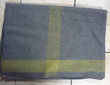 ~ Indian War Cavalry BLANKET - Wool - GREY with Yellow Stripe on 4 sides - New !