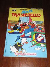 WALT DISNEY MAXI TRASFERELLO N°5 IL COMPUTER IMPAZZITO ANNO 1986 DA EDICOLA