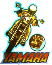 YAMAHA MOTORCYCLE T-SHIRT IRON ON STREET BIKE VINTAGE ROACH HEAT TRANSFER RAREST