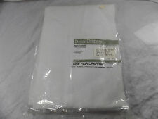 Cool White 48x84 Elegance Draw Drapery Set New Old Stock