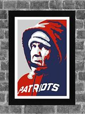 New England Patriots Bill Belichick Portrait Sports Print Art 11x17