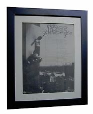 10cc+Ten Out Of Ten+TOUR+POSTER+AD+RARE ORIGINAL 1981+FRAMED+EXPRESS GLOBAL SHIP