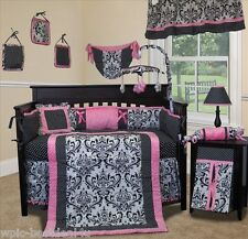 Baby Boutique - Rose Damask - 13 pcs Crib Nursery Bedding