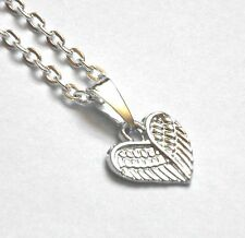Childs/Young Adult ANGEL Wings HEART Pendant Necklace