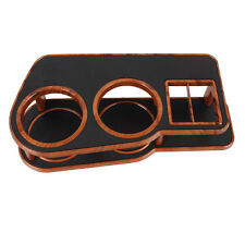 Car Auto Dashboard Table Drink Food Double Din Cup Tray Holder Stand Desk Brown