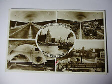 LIV152 - 1940s MERSEY TUNNEL MULTIVIEW Liverpool POSTCARD
