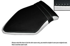 BLACK & WHITE CUSTOM FITS BMW S 1000 RR 15-16 REAR LEATHER SEAT COVER