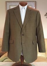 Brooks Brothers Mens Brown Multi-Color Houndstooth Wool Blazer Sz 44 R MINT!