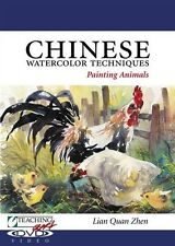 NEW! Chinese Watercolor Techniques: Painting Animals with Lian Quan Zhen [DVD]