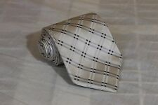 TED BAKER White Argyle Diamonds Classic Woven 100% Silk Tie