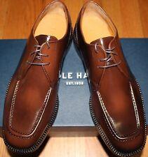 $178 COLE HAAN EATON MOC TOE OX MAHOGANY LEATHER LACE UP SHOES SZ 8W