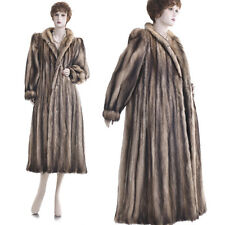 Excellent! Sexy & Glam! Russian Fitch Fur 48.5 in. Full-Length Coat