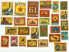 India 1970s-80s Matchbox labels x 50 different