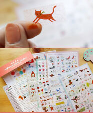7sheets animal Notebook filofax schedule Diary album calendar deco pvc sticker