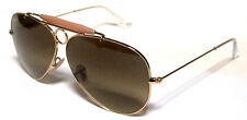 RAY BAN 3138 58 SHOOTER GOLD ORO MARRONE SFUMATO BROWN PERSONALIZZATO REMIX