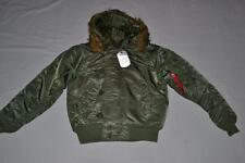 AUTHENTIC ALPHA INDUSTRIES MENS ALPHA N-2B SHORT WAIST PARKA JACKET GREEN MEDIUM