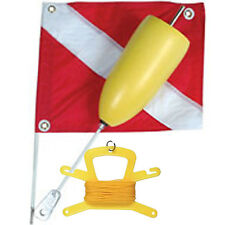 Torpedo Foam Dive Float with 14x18 Nylon Dive Flag, and 100FT Yellow Poly Line