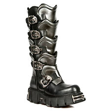 New Rock boots 738-S1 Leather Platform Boots Gothic Punk Rock Armoured men women