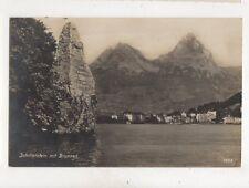 Schillerstein Miut Brunnen Switzerland 1926 RP Postcard Goetz 334b